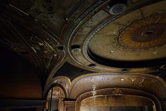 old movie theater ceiling, NY, USA
