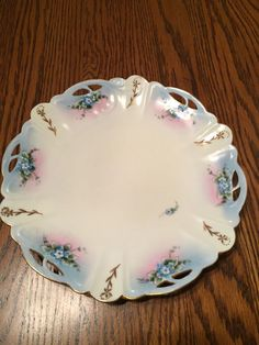 Rosenthal Hand Painted Blue Forget Me Not Open Edged Decorator Plate Signed…