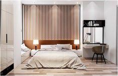 slats walls for modern bedroom