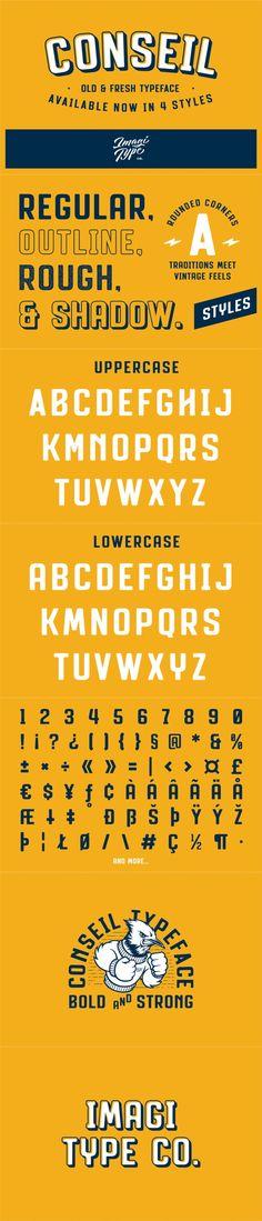 Conseil Typeface. Fonts. $15.00