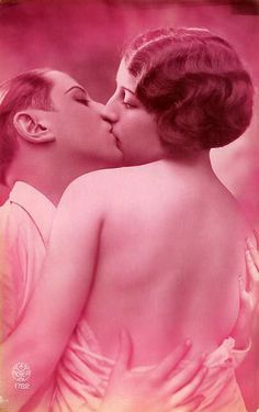 Do you know how to make a romantic kiss? Or Kiss your lover gently? Just check out these vintage French postcards to see how to kiss romanti...