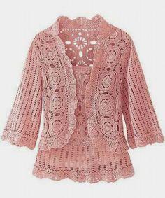 Ivelise Feito à Mão: Lindas Blusas Cardigans Em Crochê