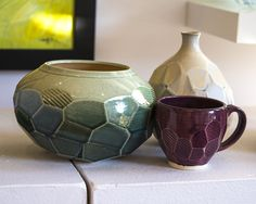 FACETED CERAMICS PIECES, BY HEDY YANG FROM NOVI, MI Starting at $40