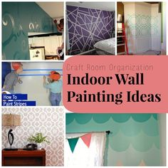 Fresh and Creative Wall Painting Ideas - Check out my other pins as guest pinner for @FaveCrafts this month!