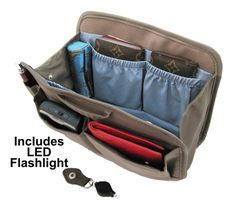 purses with organizers built in | Purse Organizer with RFID Blocking