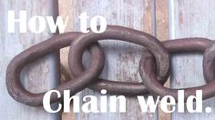 In this week's video, I demonstrate ad chat about how I make forge welded chain…