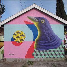 Artist: birdO  Location: L.A.  Photo: repost - check out @jerryrugg for more amazing murals!  ℹ More street art at StreetArtRat.com  #travel #streetart #street #streetphotography #tflers #sprayart #urban #urbanart #urbanwalls #wall #wallporn #graffitiigers #stencilart #art #graffiti #instagraffiti #instagood #artwork #mural #graffitiporn #photooftheday #streetartistry #pasteup #instagraff #instagrafite #streetarteverywhere #la
