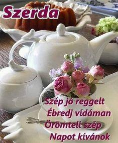 Good Morning, Tea Pots, Tableware, Buen Dia, Dinnerware, Bonjour, Tablewares, Tea Pot, Dishes