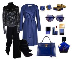 """""""Styling By Wynter: Blues On My Mind"""" by thewynterproject on Polyvore featuring Hermès, The Row, Haider Ackermann, Kate Spade, Fendi, Harris Wharf London, Estée Lauder, Butter London, Yves Saint Laurent and Gianvito Rossi"""