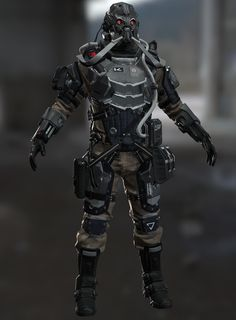 I did this character based on this concept art: https://www.videogamesartwork.com/games/killzone-shadow-fall/helghast-soldier-2 It was done in zbrush , 3d max and photoshop. It is not 100 percent fininshed.....