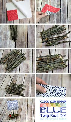 how to make a twig boat