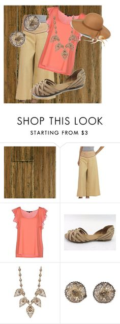 """""""Brown Derby"""" by vintagegirl1940 ❤ liked on Polyvore featuring NOVICA, French Connection, Natasha Accessories, Steve Madden and casualoutfit"""