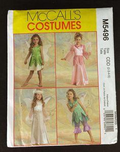 Princess Fairy Angel McCall's Costumes Pattern M5496 CCD Girls 2-3-4-5 Uncut #McCalls