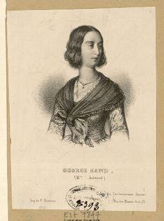 Portrait anonyme de George Sand