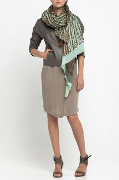 Printed wrap WEAVE (mint)