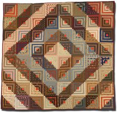 IQSCM | Exhibitions | Design Dynamics of Log Cabin Quilts: Selections from the Jonathan Holstein Collection