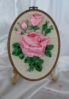 Ribbon embroidery - ellipse 003
