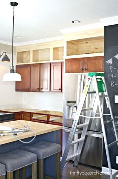 Kitchen Cabinet Shelf  - CLICK THE PIN for Many Kitchen Cabinet Ideas. 29929976 #cabinets #kitchendesign