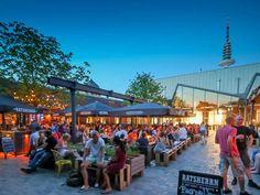 Altes Mädchen - Brauhaus and restaurant, inside outside, Hamburg Schanze