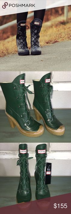 HUNTER Gabby Boots Awesome boots, just never worn. All details in pics! New with tags, had to toss the box in a move! Please see offer chart, I do not counter low ball offers! Thanks! z#1045 Hunter Boots Shoes Winter & Rain Boots