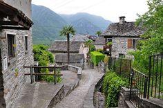 The village of Gordevio in Vallemaggia, Ticino canton, Switzerland.