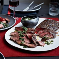 Flat Iron Steaks with Blue Cheese Butter | Beer of the Month Club Blog #recipe #beer #steaks