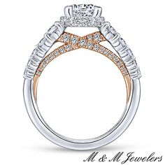 This certainty comes once in a lifetime.  #EngagementRing #WhiteGold #RoseGold #DiamondRing #GabrielNY #CECILIA