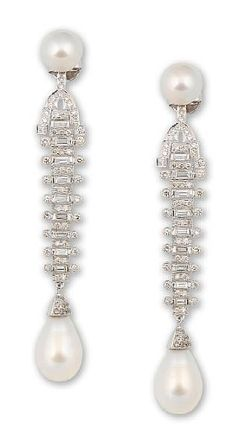 #Pearl and Diamond earrings