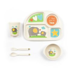 Elephant Square Dinner Set 5/pc