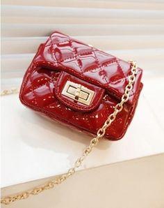 Red Vintage Style Trendy Lock Across Body Bag