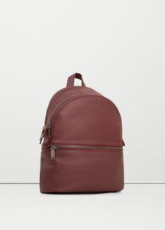 Фактурный рюкзак с молнией   MANGO МАНГО