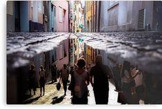 Impression métallique 'A Reflection of City Life by GEN Z' par Gen-Z City Life, High Gloss, Les Oeuvres, Reflection, Prints, Design, Products