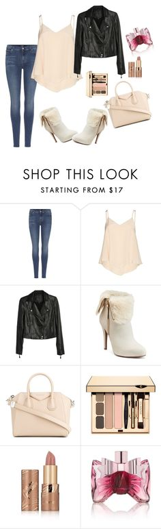 """""""Untitled #16"""" by edina-111 ❤ liked on Polyvore featuring 7 For All Mankind, Alice + Olivia, Paige Denim, Jennifer Lopez, Givenchy, tarte and Viktor & Rolf"""