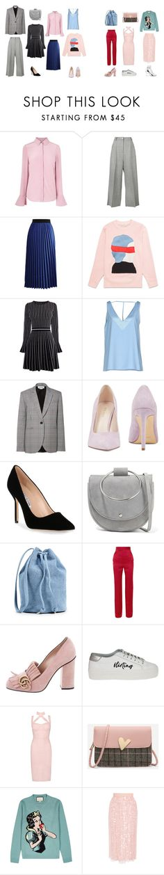 """TREND"" by laravolodina on Polyvore featuring мода, Natasha Zinko, Chicwish, Karen Millen, Andrea Morando, Monse, Nine West, Manolo Blahnik, Theory и BAGGU"