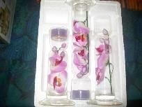 FLOATING ORCHID 3 TEALIGHT SET FREE SHIPPING