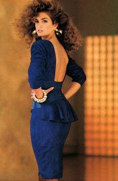 Vakko, American Vogue, Cindy Crawford, August 1987.