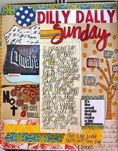 Summer Art Journal Page   by TMcFayden