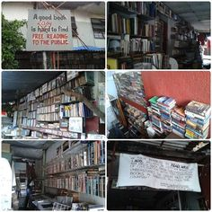 Balagtas, Makati City.  the books were donations of different people.  It's free reading (Plus ! you can ask the owner if you want to take home one of the books)