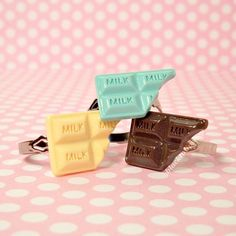 Sweet Lolita Pastel Candy Bar Adjustable Ring  by blacktulipshop