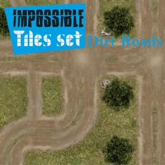 Tile-able easy set of dirt roads. Different terrain, for every situation. Remember rotate, reflect, assemble all pieces with your imagination.  https://marketplace.roll20.net/browse/set/868/impossible-tiles-set-dirt-roads
