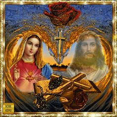 Jesus And Mary Pictures, Pictures Of Jesus Christ, Mary And Jesus, Jesus Mother, Blessed Mother, Mother Mary, Family History Book, Animated Heart, Christ In Me