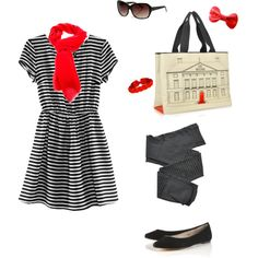 Stripes! Spring! (This outfit needs a jacket!)