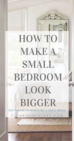 This list of small space hacks are easy to incorporate and are sure to make any small bedroom feel more open and airy. Try combining a couple of these tips to turn your tiny bedroom into a retreat youll never want to leave! Tiny Master Bedroom, Cozy Small Bedrooms, Small Rooms, Small Bedroom Hacks, Small Room Layouts, Tiny Bedroom Design, Couple Bedroom, Guest Bedrooms, Teen Bedroom