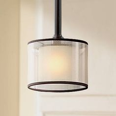 An exquisite mini pendant light from Kichler's transitional Lacey Collection.