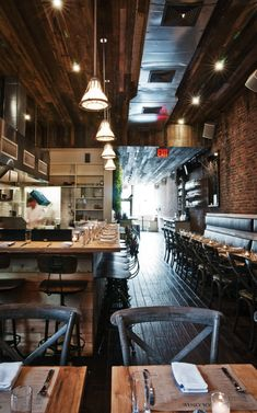 you visited any of these NYC restaurants? One of our would look great in this rustic coffee shop.ukOne of our would look great in this rustic coffee shop. Design Café, Cafe Design, House Design, Image Restaurant, Restaurant Bar, Restaurant Seating, Café Bar, Bar Interior, Restaurant Interior Design