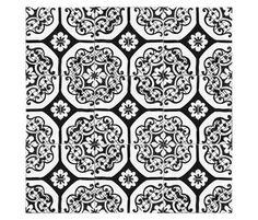 Bianco e Nero | La Riggiola - too crazy for a kitchen floor???