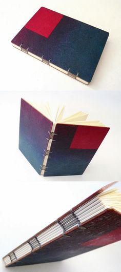 sketchbook com encadernação em ponto escada. Luisa Gomes Cardoso para o Canteiro de Alfaces