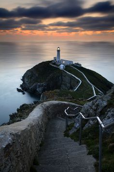 South Stack Lighthouse, Wales Plenty of visits when I was little, back in black and white days. You had to cross a bridge onto the island, then up to the lantern room.