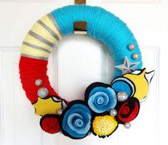 Comic Felt Yarn Wreath The Original Felt Yarn par KnockKnocking