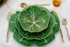 Cabbage Plates . check out my moms Blog for fun ideas on how to set the table :)